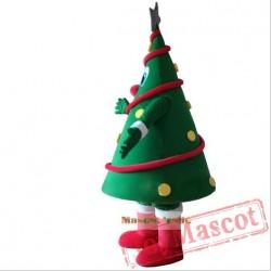 Green Christmas Tree Mascot Costume Christmas Carnival Performance Apparel