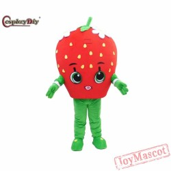 Cartoon Strawberry Mascot Costume For Adult Cosplay Mascot
