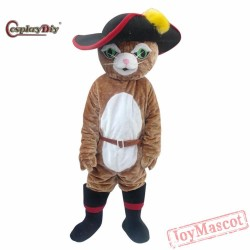 Puss In Boots Cat Mascot Costume Cartoon Animal Cosplay Costumes Adult