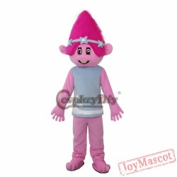 Trolls Mascot Cartoon Blanche Parade Clowns Adult Costumes