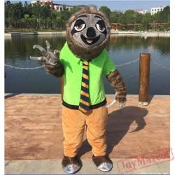 Zootopia Folivora Sloth Manager Flash Mascot Costume Zootopia Plush Mascot Costume