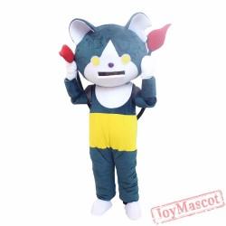 Youkai Watch Jibanyan Blue Cat Mascot Cartoon Costume Halloween Christmas Costume