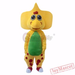Barney Dinosaur Adult Mascot Costume