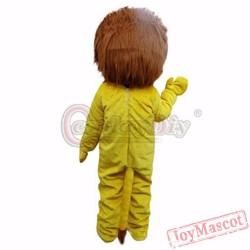 Animal Yellow Lion Plush Adult Mascot Costume For Christmas