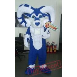 Blue Ram Mascot Costume Celebration Carnival Outfit