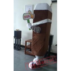 Chocolate Ice Cream Mascot Costume Plush Cartoon Costumess