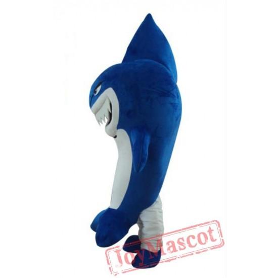 Smile Blue Whale Mascot Costume Cartoon Shark Fish Mascot