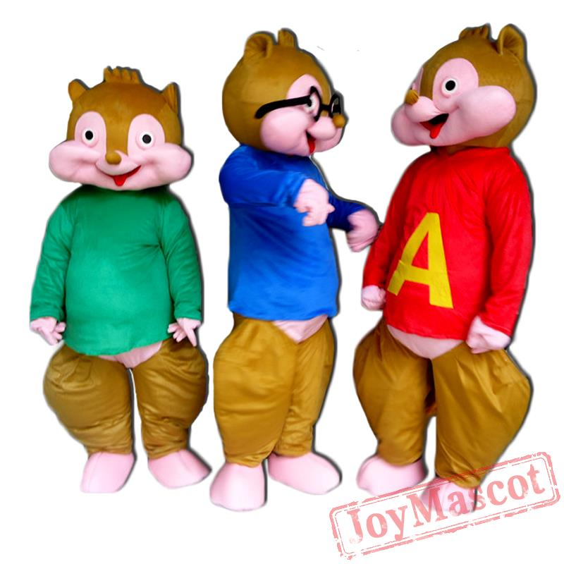 Alvin The Chipmunks Mascot Costume