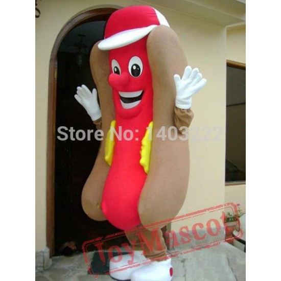 Hot Dog Hotdog Mascot Costume Cartoon Character