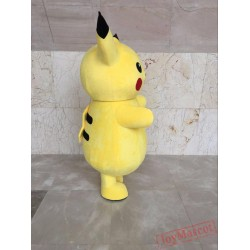 Pokemon Pikachu Mascot Costume Cartoon Mascot Costume