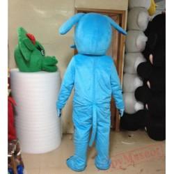 Cosplay Blue Dog Mascot Costume