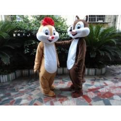 Chip & Dale Chipmunk Squirrel Mascots Costume