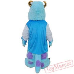 Blue Fancy trader Deluxe Sully Sulley Mascot Costume