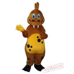 Brown Dinosaur Mascot Costume