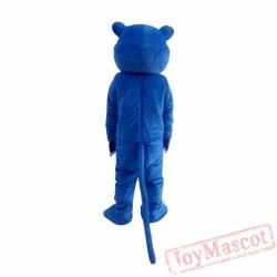 Blue Panther Lion Plush Mascot Costume