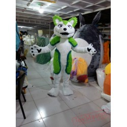 Green Husky Mascot Costume