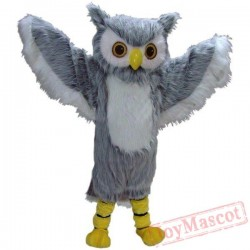 Grey Owl Mascot Costume