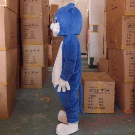 Animal Costume Blue Cat Mascot Costume
