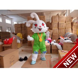 Christmas Rabbit Mascot Costumes for Adults