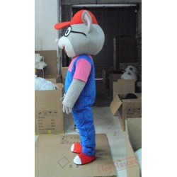 Glasses, Mouse, Big Cats Baby Cartoon Character Costume Cosplay Mascot