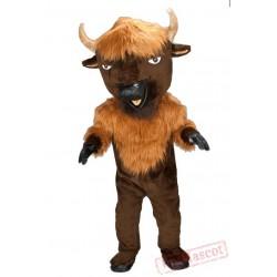 Brown Bull Antelope Mascot Costume for Adults