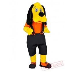Dog Yellow Mascot Cartoon Character Costume