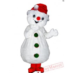 Christmas Snowman Mascot Costume for Adults