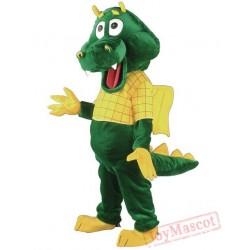Dragon Mascot Costume Cartoon Character Costume