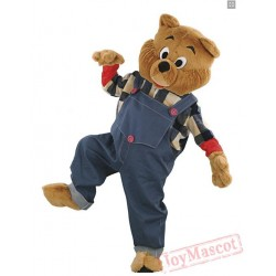 Bulldog Brown Bear Mascot Costume for Adults