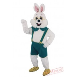 Bavarian Rabbit Mascot Costume for Adults