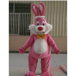 Pink Rabbit Mascot Costume