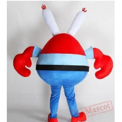Cartoon Crab Boss Mascot Costume for Adults