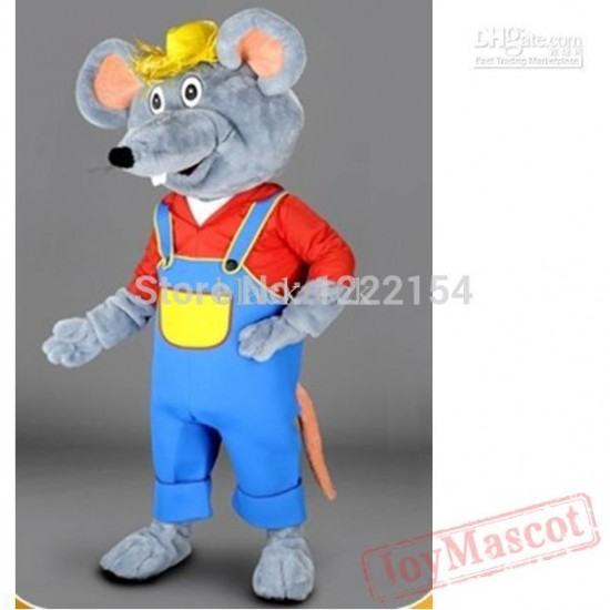 Adult Cartoon Farmer Mouse Mascot Costumes
