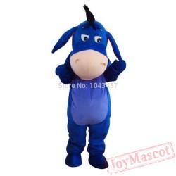 Blue Eeyore Donkey Mascot Costume