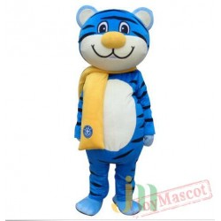 Blue Tiger Mascot Costume Animal