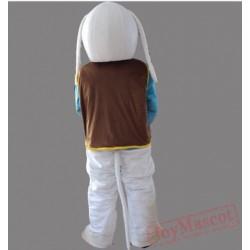 Brown Vest Dog Mascot Costume Animal