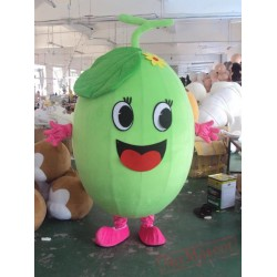 Adult Cartoon Character Green Happy Bean Mascot Costume