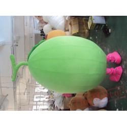 Adult Cartoon Character Cute Green Happy Bean Mascot Costume
