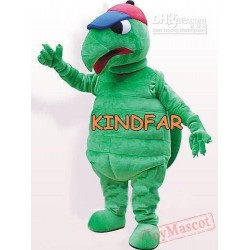 Adult Cute Big Green Tortoise Mascot Costume