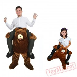Ride On Bear Mascot Costume for Adult Kids