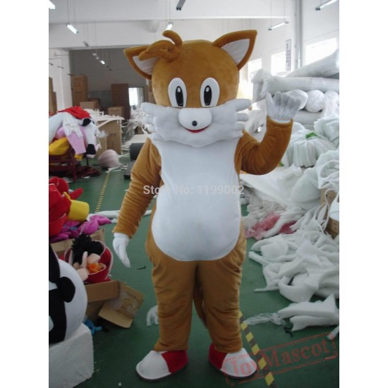 Adult Purple Cat Mascot Costume