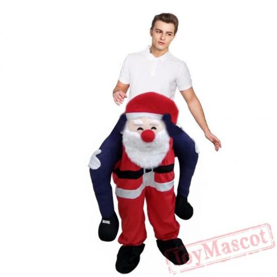 Adult Kids Novelty Santa Claus Ride On Costume Christmas