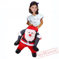 Adult Kids Novelty Santa Claus Ride On Costume Christmas