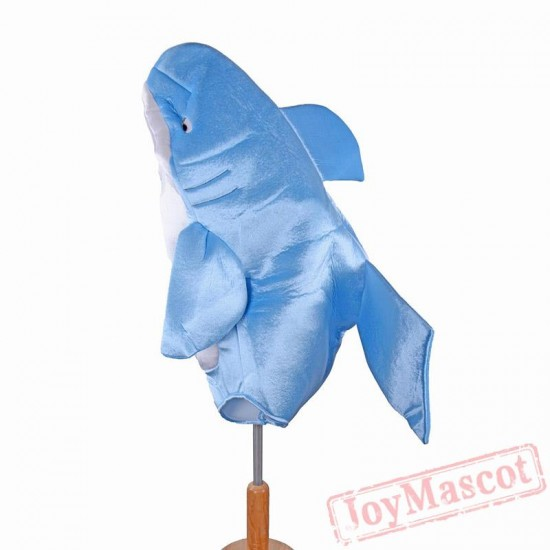 Children Attack Blue Shark Costume Animal Mascot Costume