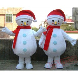 Christmas Snowman Mascot Costume