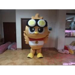 Brown Owl Owlet Mascot Costume