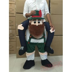 Bear Piggyback Ride On Carry Me Mascot Costume for Adult