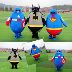 Captain America Batman Superman Adult Mascot Costumes