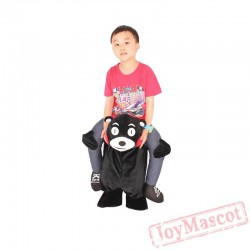 Adult & Kid Bear Piggyback Ride On Carry Me Mascot costume