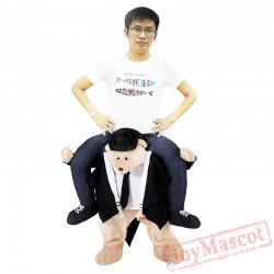 Bear Piggyback Ride On Carry Me Mascot costume